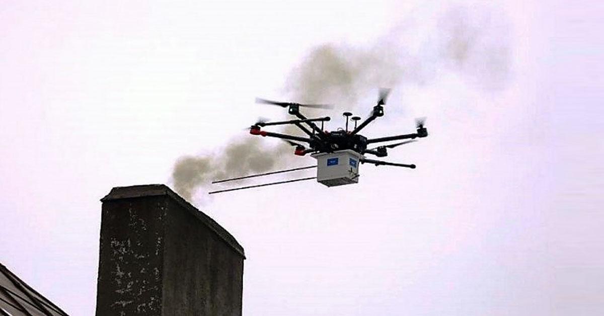 I.3. Специализирани дронове ловят замърсяващи комини