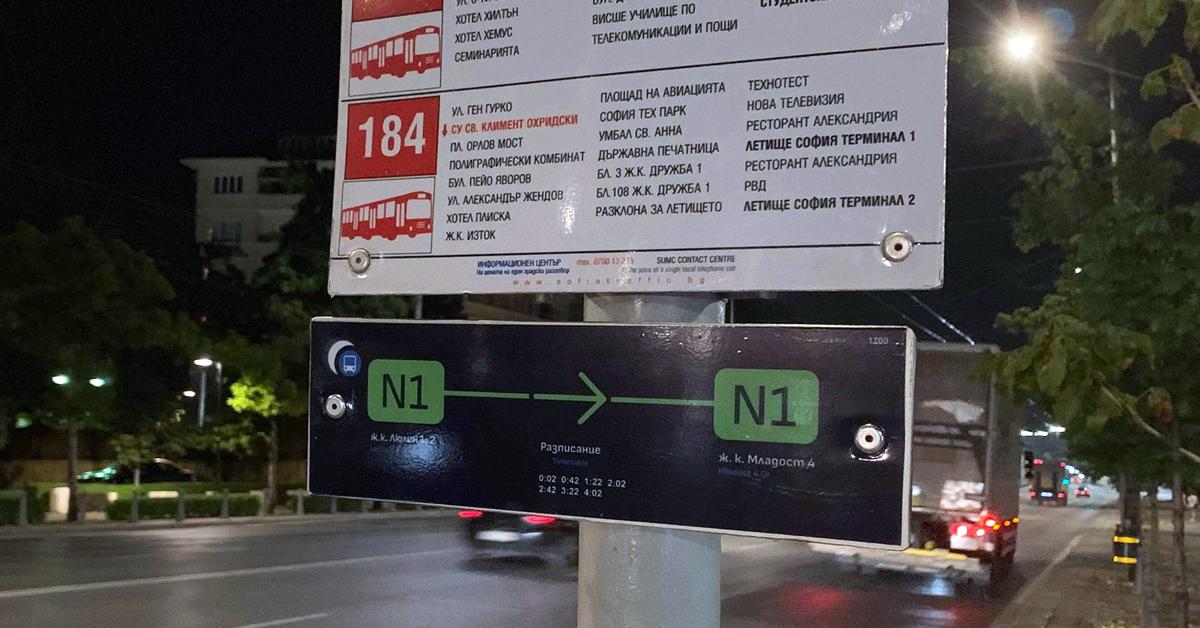 I.3. Развитие на нощния транспорт