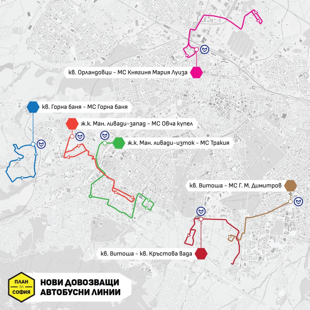 Нови довозващи автобусни линии