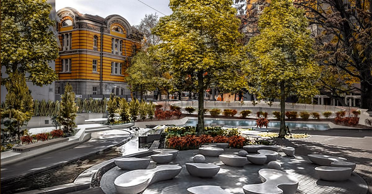 I. Пешеходни зони и представителни публични пространства