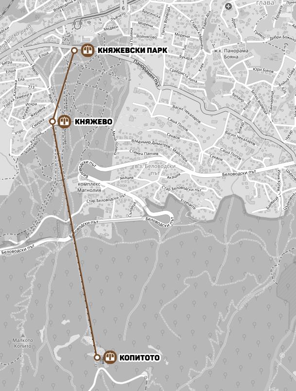 Удължение на Княжевския лифт до колелото на трамвай №5 е технически възможно